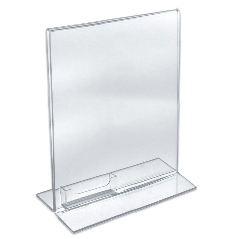 Acrylic Table Book Style MenuPrint Holder PlasticsLand - Acrylic menu table tent holders