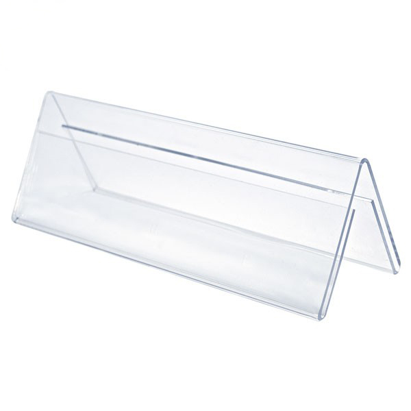 Acrylic Doublesided Card Tent Holders PlasticsLand - Acrylic table tent holders
