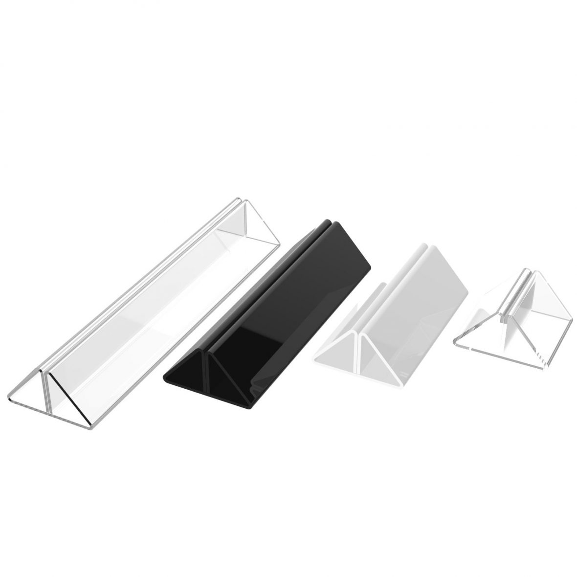 Acrylic Doublesided Card Tent Holders PlasticsLand - Table tent stands